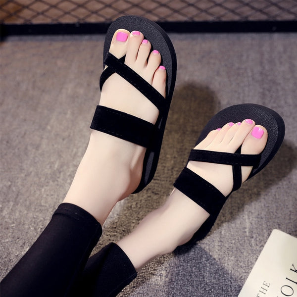 New fashion women black sandals comfortable slippers women summer shoes