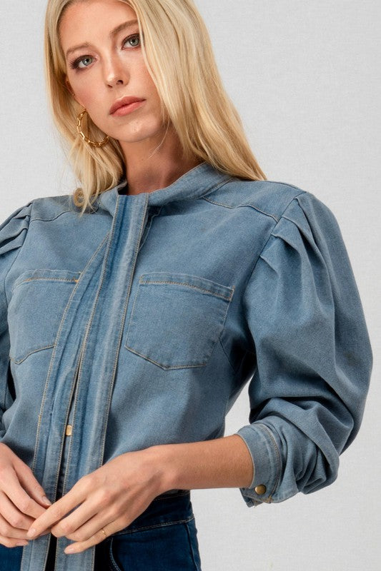 FRENCHY DENIM TOP