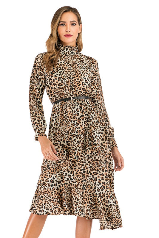 Pretty & Polished Leopard Dress