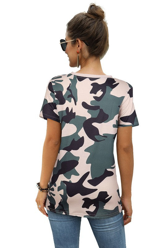 Fancy Camo Athleisure T-Shirt