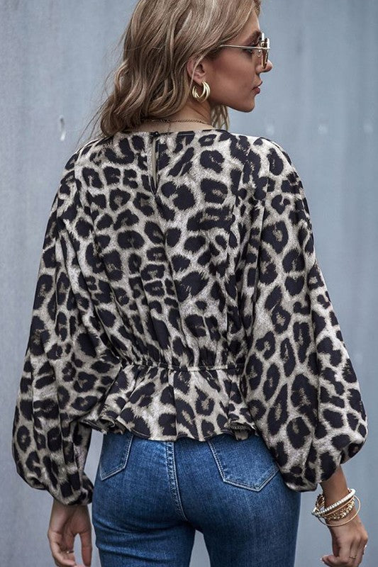 Leopard Blouse Top