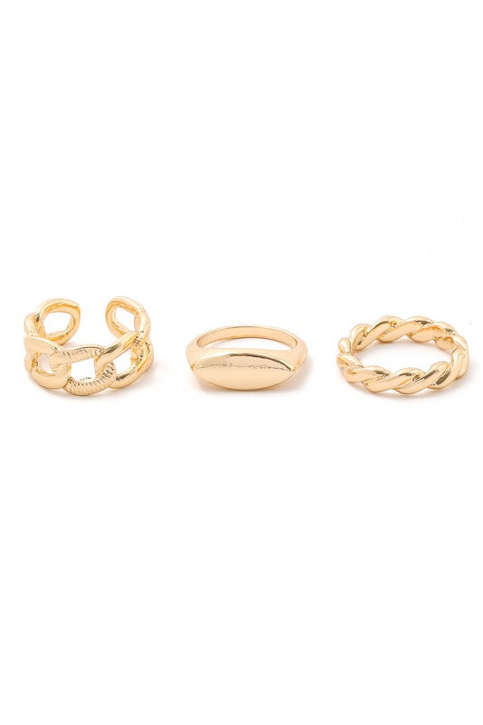 Gold Snuggie Stackable Rings