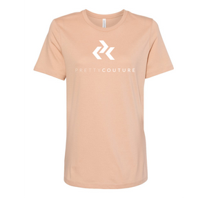 Tan Pretty Couture Classic Crew Neck T-Shirt
