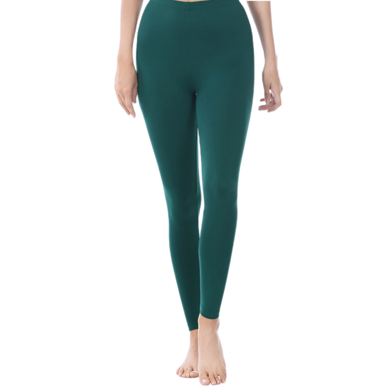 Deep Green Cozy Leggings