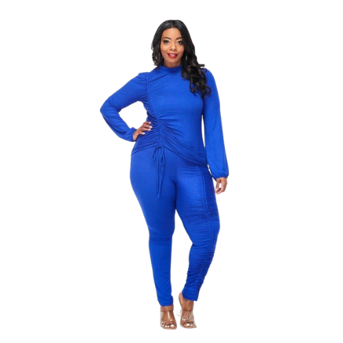 Blue Pretty Curves Stretch Set