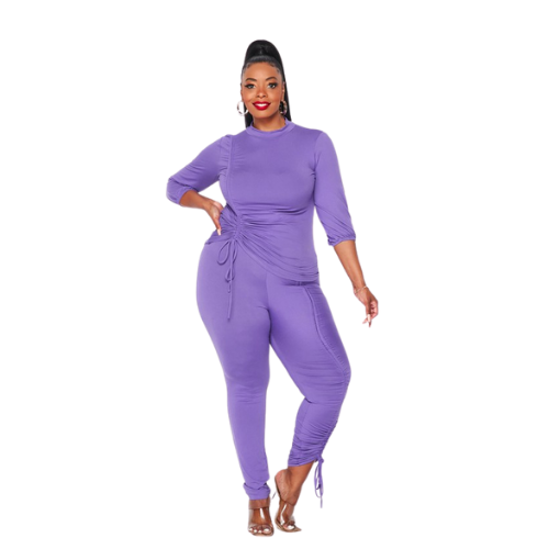 Lilac Pretty Curves Stretch Set