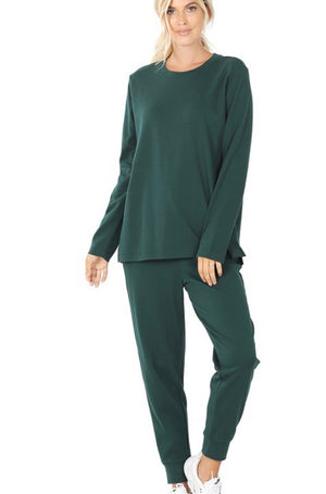 Hunter Green Jogger Set
