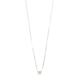Envy 925 sterling silver necklace cube sugar pendant CHIC clavicle chain