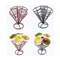 Creative Hotel Restaurant Music Bar Cone Fries Dishware Stand Food Display Stand Food Snack Basket
