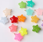 Shiny Candy Jelly Color Star Charm perfect for DIY Jewelry, Ornaments, Key Chains, Hair Beading