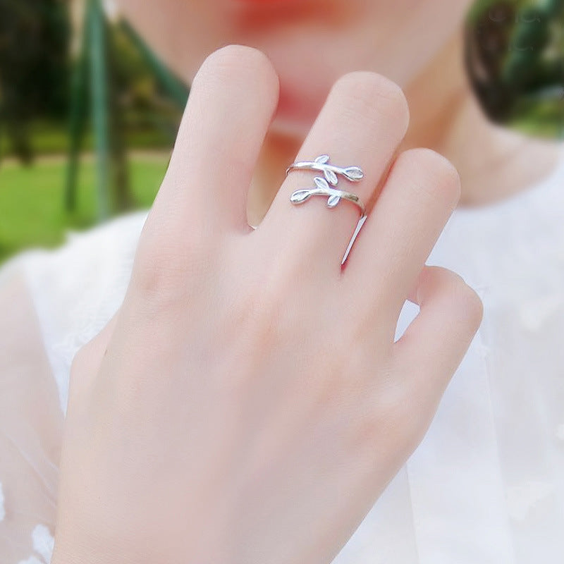 "Bague ajustable ""Branch"""