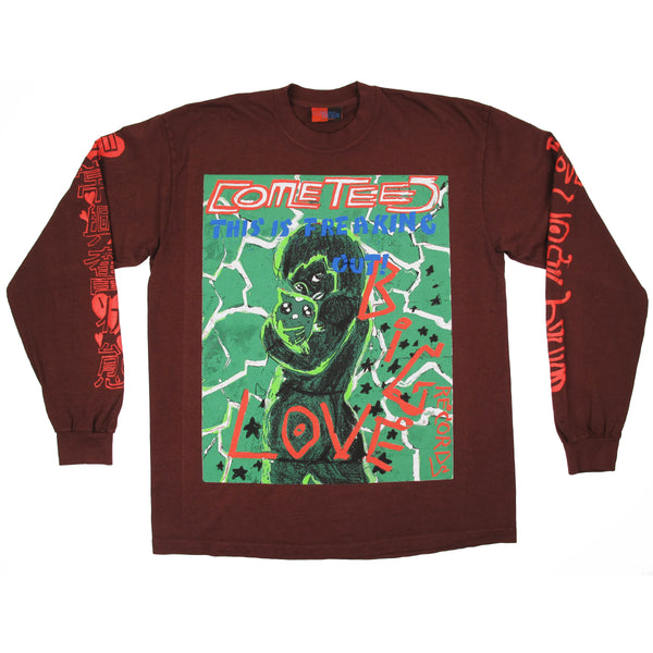 "BIG LOVE x COME TEES ""THIS IS FREAKING OUT"" LONG SLEEVE"