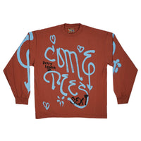 "SPRAY LOGO LONG SLEEVE ""PUTTY"""