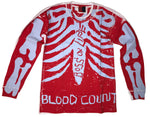 """BLOOD COUNT"" SKELLY LONGSLEEVE BLUD"