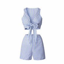 Blue Striped Beach Set