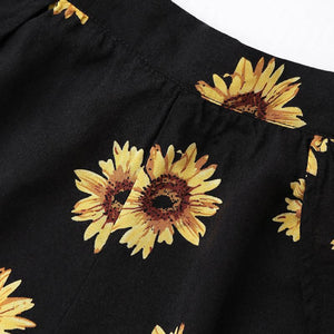 Sunflower Crop Top and Shorts Set