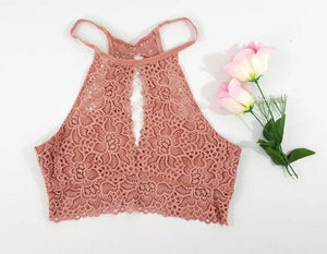 Summer Backless Lace Vest Top