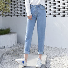 Denim High Waist Boyfriend Jeans