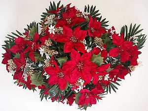 Christmas headstone flower arrangement