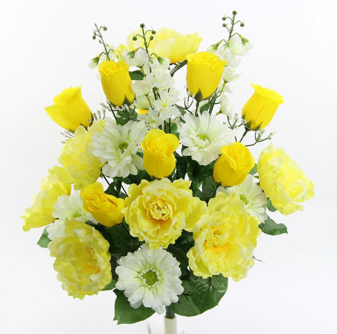 Peonies and Rose Mix - Yellow and Cream