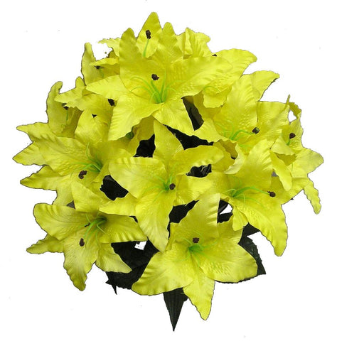 Premium  Tiger Lily Bush- Bright Yellow