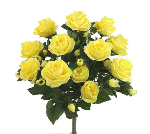 Premium Yellow Rose Bush with 15 Roses-5 available colors