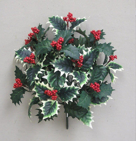 Holly Leaves w/Berry Bush