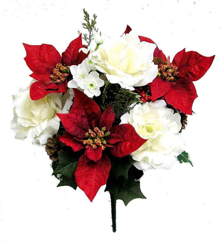 Poinsettia and Lily Christmas Mixed Bush