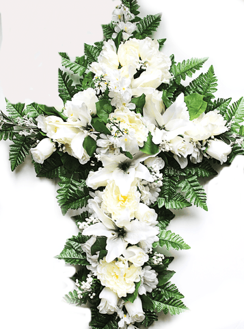 SF'S Premium Exclusive- All White Mix 18 inch Cross