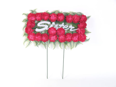 artificial flower pillow