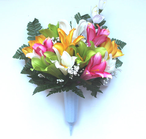 GSF's Premium Exclusive -Tiger Lily Mix Forward Facing Vase