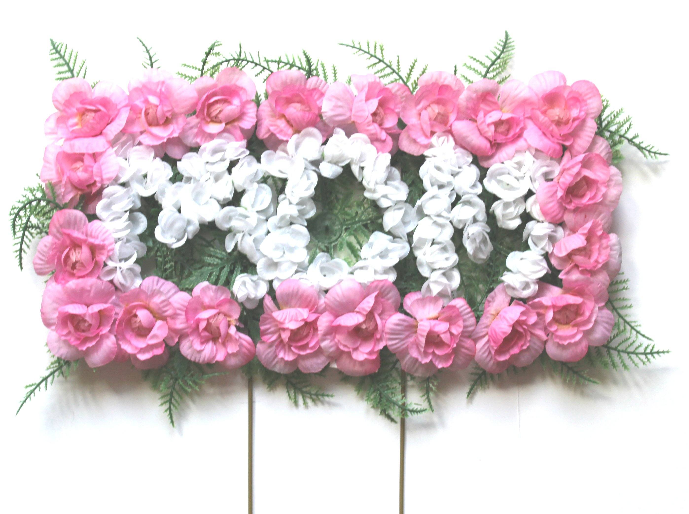 Mom Cemetery Flower Pillow Pink