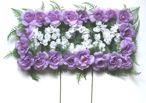 Mom Cemetery Pillow Arrangement - Purple