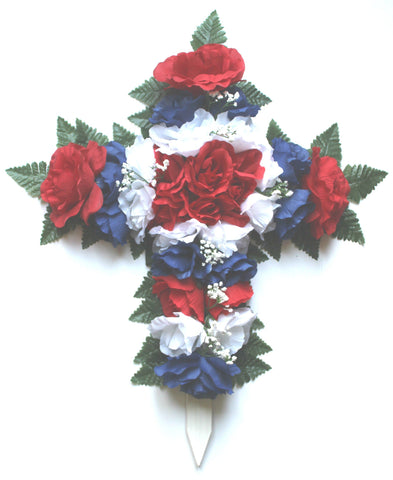 GSF's Premium Exclusive All American Memorial Wood Cross - 24 Inch