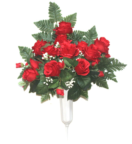 GSF's Premium Exclusive -  Rose Front Facing Vase - Red Mix