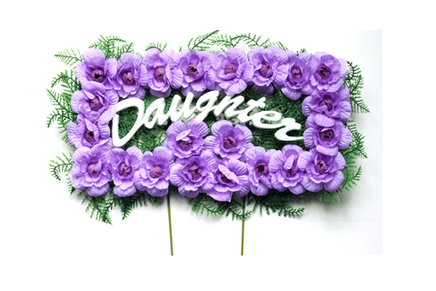 Daughter Pillow - Purple Carnations - 18 inch