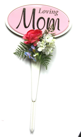 Loving Mom Stand with Accented Flowers- 18 inch Tall