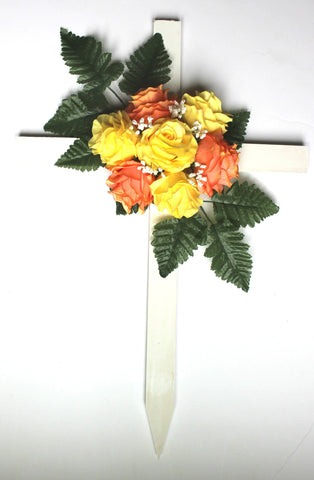 GSF'S Premium Exclusive- Yellow and Orange Fall Mix Wood Cross