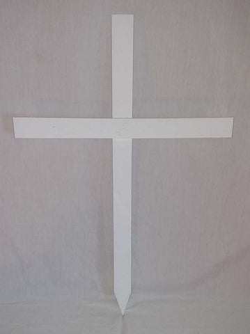 plain white cross for memorials