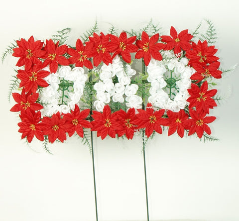Christmas grave flowers
