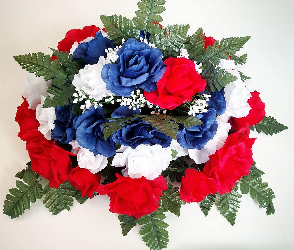 Graveside flowers artificial flower arrangements for cemeteries artificial silk flowers for cemeteries and graves dhlflorist Image collections