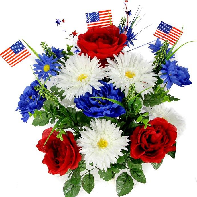 Artificial Silk Flowers for Cemeteries and Graves
