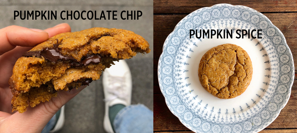 Pumpkin Chocolate Chip + Pumpkin Spice Cookies