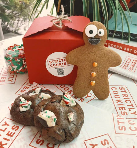strictly cookies best cookies shanghai cookie delivery peppermint bark cookie holiday christmas cookies gift set gingerbread man gingerbread kits