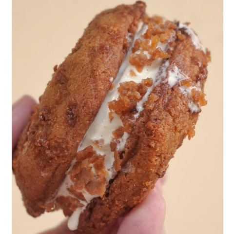 vanilla ice cream sandwich sweet and salty butterscotch cookie strictly cookies shanghai cookie delivery bakery shop