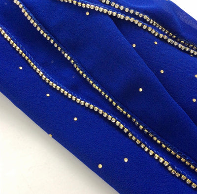 Stone Chiffon - Royal Blue