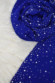 Pearl Chiffon - Royal Blue