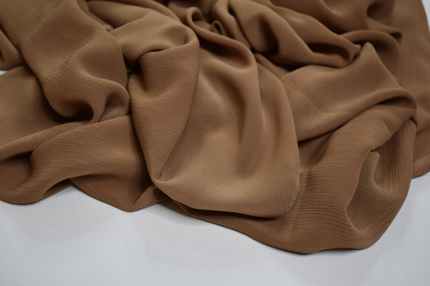 Crinkle Chiffon - Light cinnamon