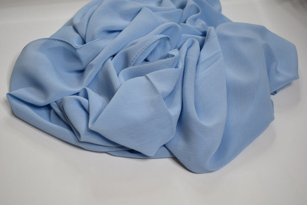Crinkle Chiffon - Light Blue