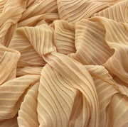 Pleated Chiffon - Cream